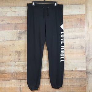NA NA USA Sweat Pants Womens Size XL Black TW8